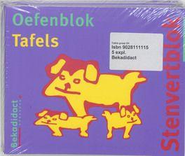 Stenvertblok set 5 ex